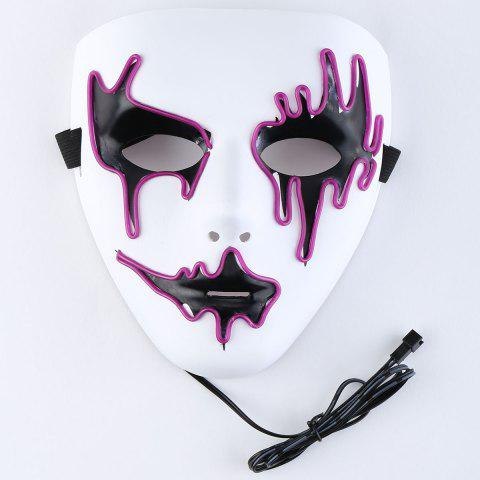 Affordable EL Wire LED Glowing Halloween Full Face Mask