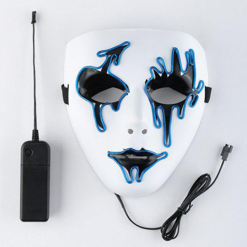 EL Wire LED Luminous Halloween Mask Bleu