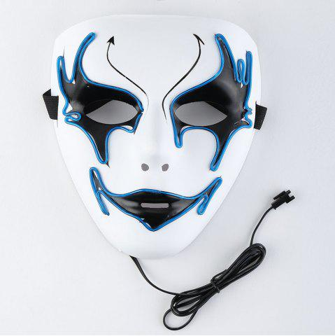 Trendy EL Wire Luminous Halloween Costume Mask BLUE