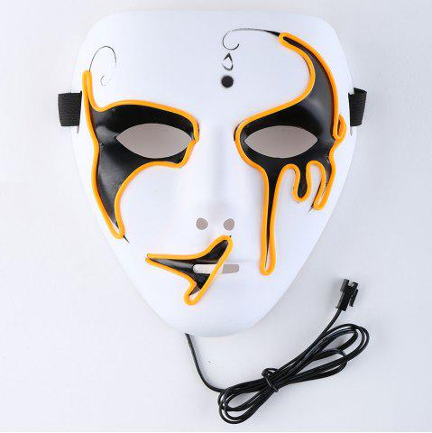 Buy Halloween EL Wire Luminous Flashing Mask