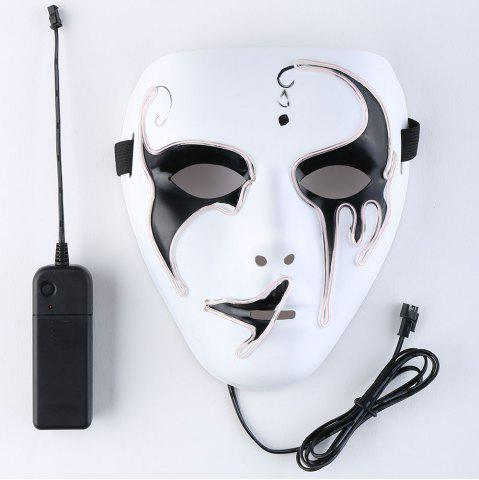 Shops Halloween EL Wire Luminous Flashing Mask