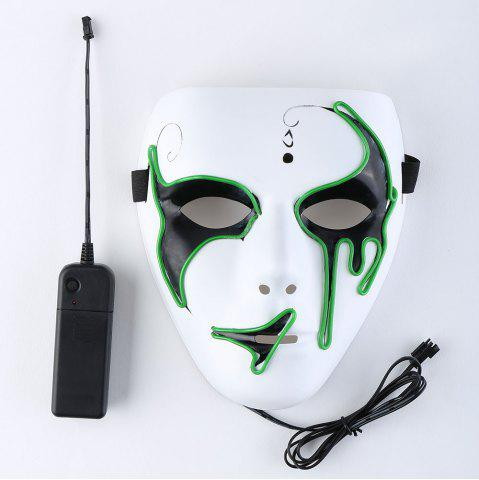 Halloween EL Wire Luminous Flashing Mask