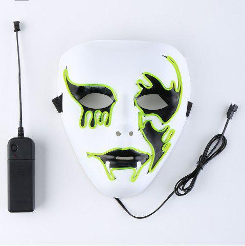 EL Wire Clignotant Halloween Cosplay Creepy Mask Fluorescent Jaune