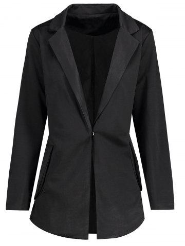 Outfit Plus Size Lapel One Button Blazer
