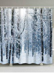 Christmas Snow Forest Printed Waterproof Shower Curtain -