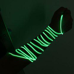 2M LED Neon Flexible Flashing EL Wire Light String -