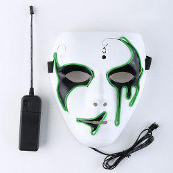 Halloween EL Wire Luminous Flashing Mask -