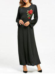 Embroidered Maxi Dress -