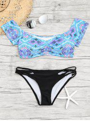 Sweetheart Neck Print Bikini Swimwear -