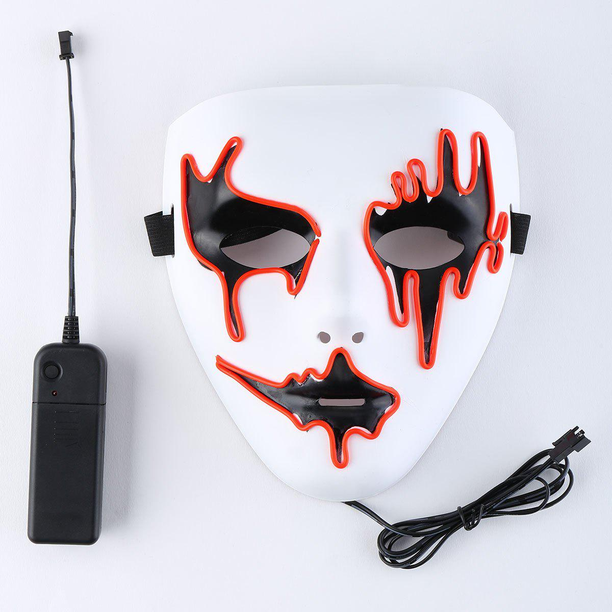 EL Wire LED Glowing Halloween Full Face Mask