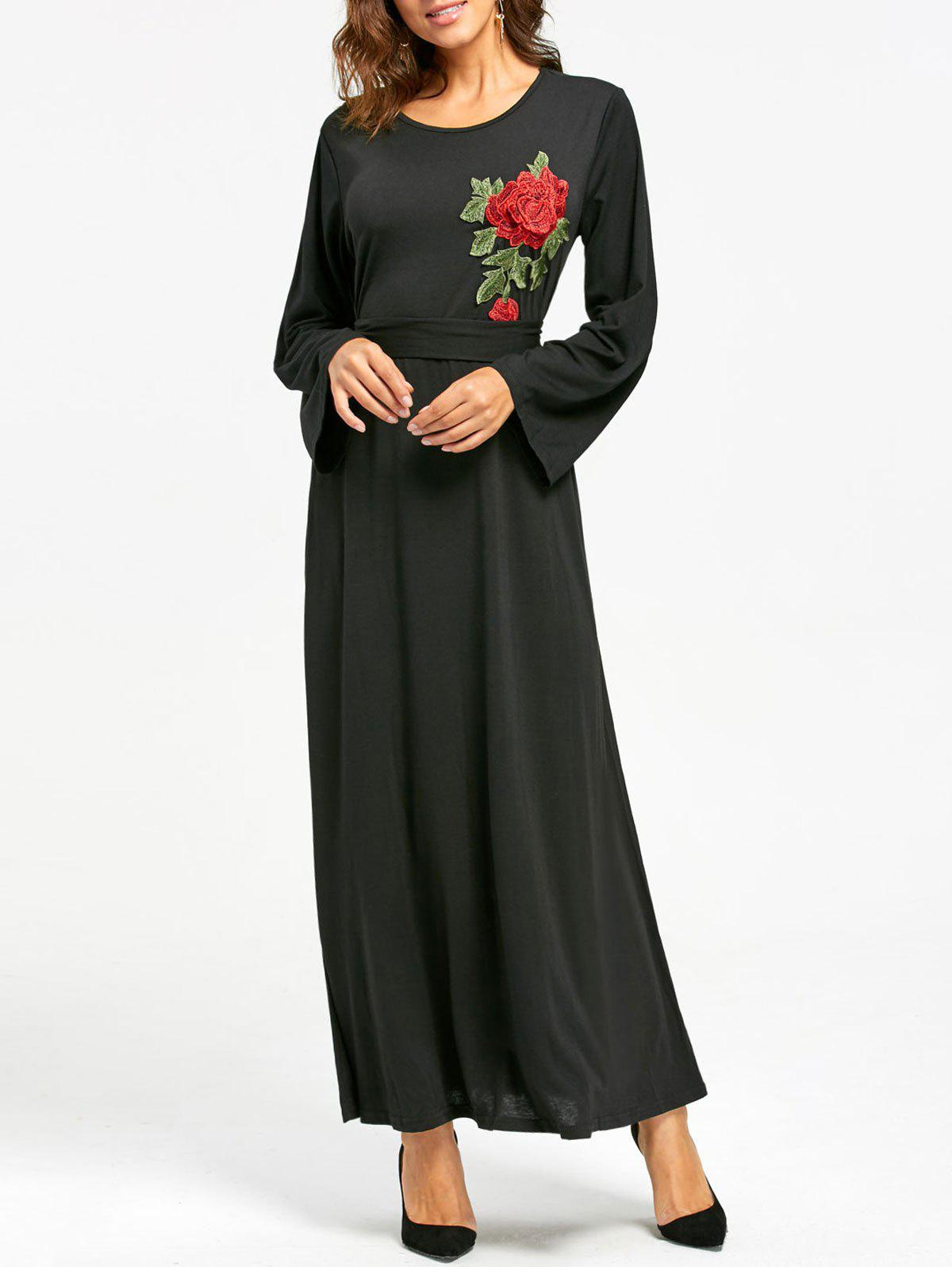 Fancy Embroidered Maxi Dress