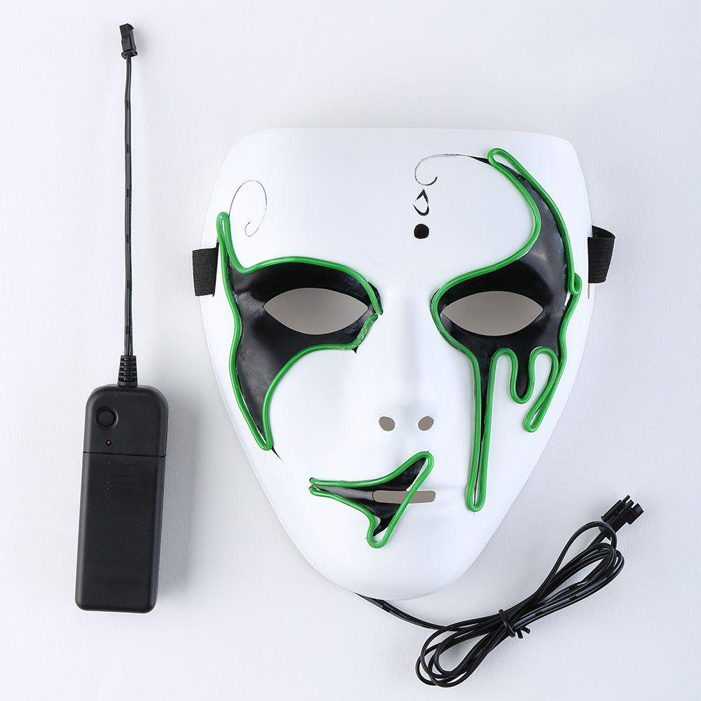 Store Halloween EL Wire Luminous Flashing Mask