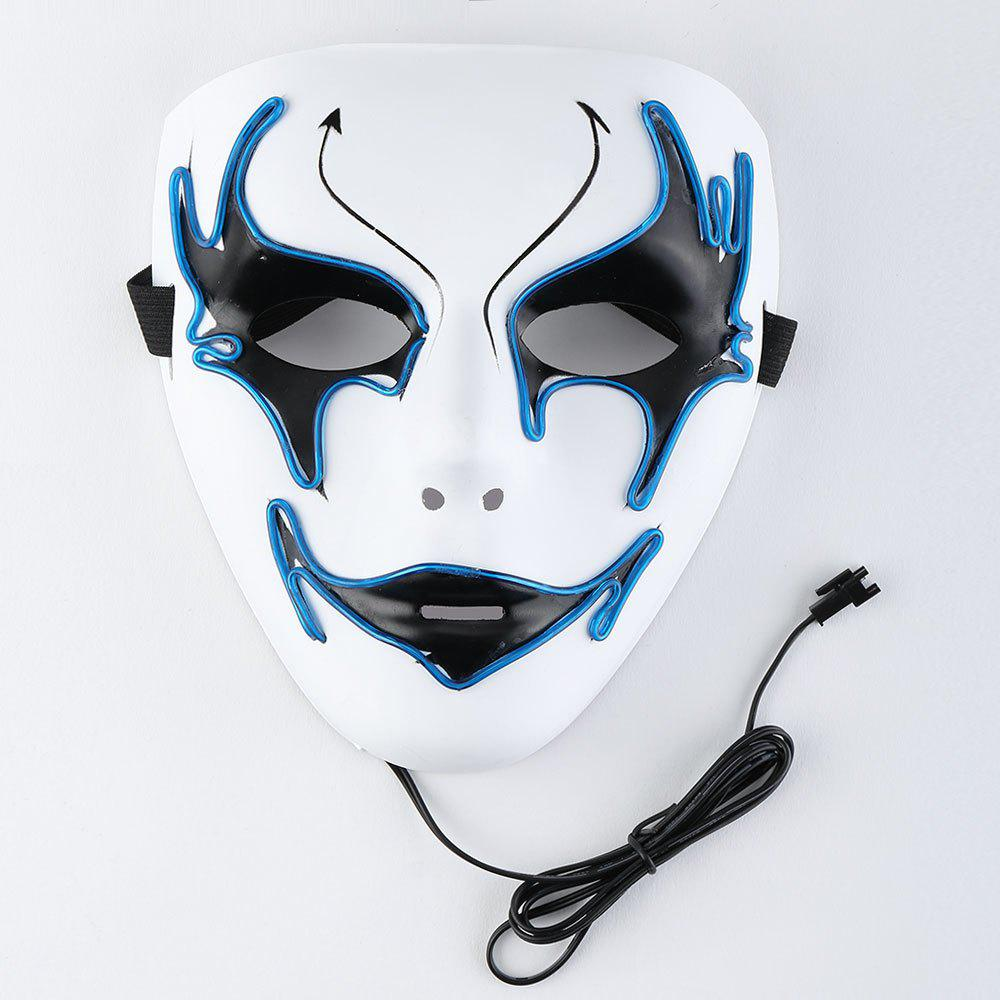 Trendy EL Wire Luminous Halloween Costume Mask
