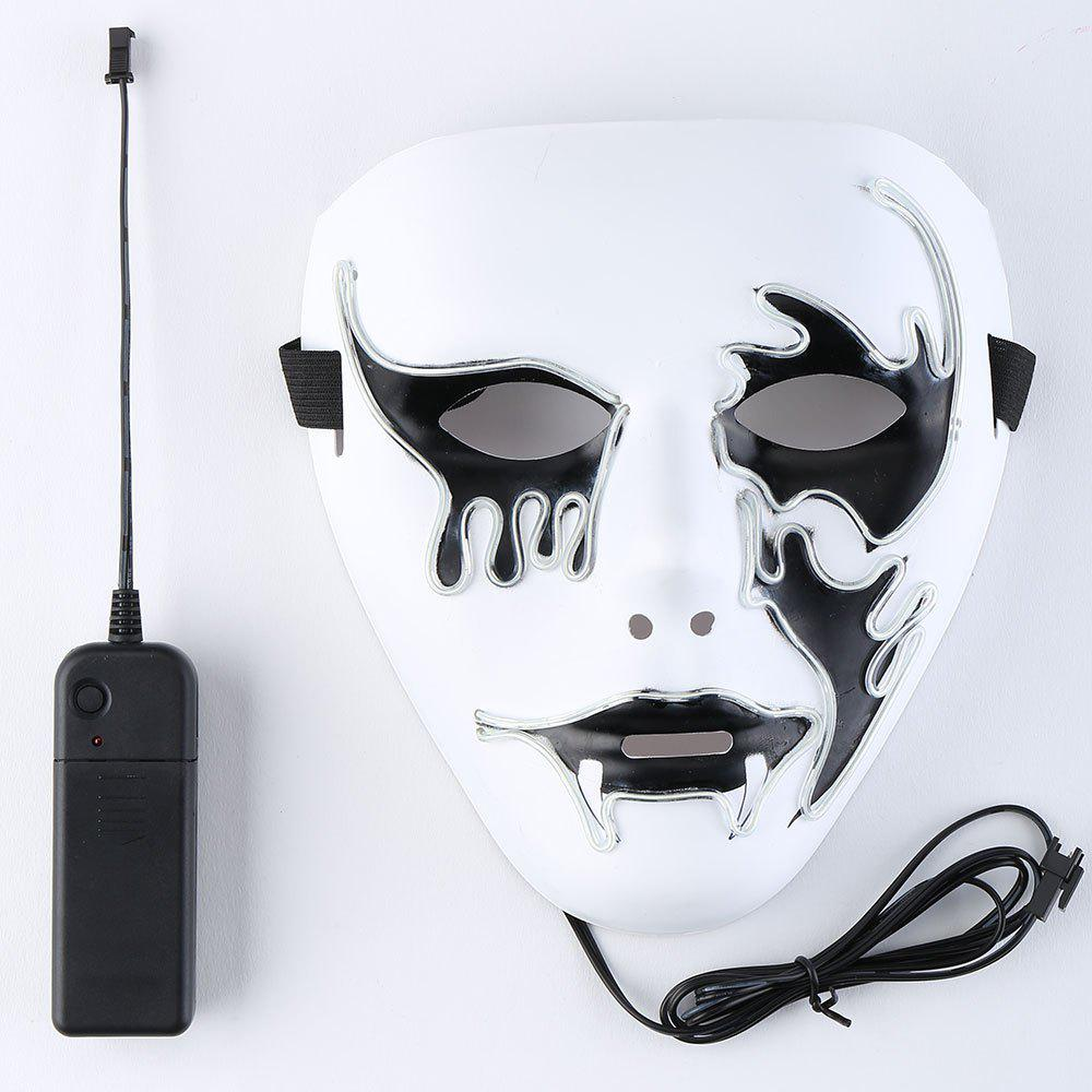 White El Wire Flashing Halloween Cosplay Creepy Mask | RoseGal.com