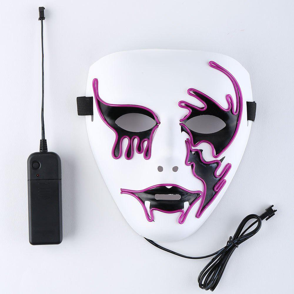 Purple El Wire Flashing Halloween Cosplay Creepy Mask | RoseGal.com