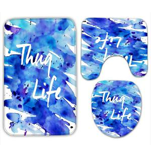 Splash Ink Painting Thug Life 3Pcs Flannel Bath Rugs Set -