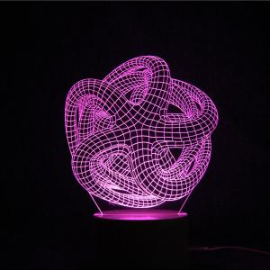 3D Geometric Remote Control Color Changing Night Light -