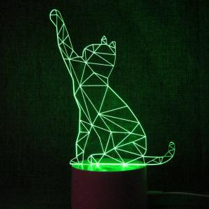 Colorful Remote Control 3D Visual Atmosphere LED Night Light -