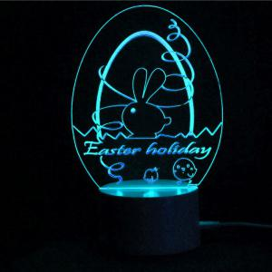 Easter Decor Egg Multicolor LED Remote Control Night Light -