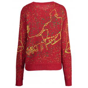 Sweat Taille Elk Bell Plus De Noël - Rouge 4XL