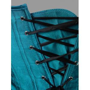 Plus Size Feather Lace-up Corset -