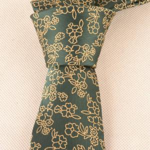 Cravate Vintage 6CM Largeur Jacquard Pattern -