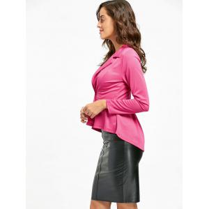 One Button Flounce High Low Blazer - TUTTI FRUTTI 2XL