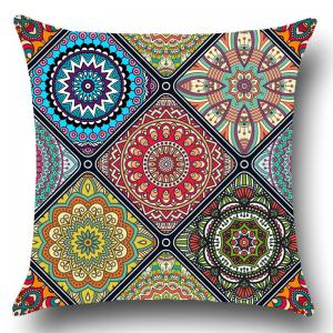 Bohemian Flowers Pattern Throw Pillow Case -