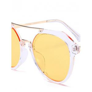 Vintage Metal Frame Crossbar Sunglasses -
