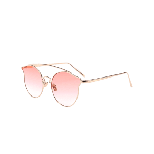Outdoor Full Frame Butterfly Sunglasses - GRADUAL PINK