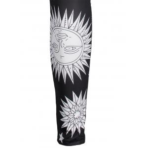 Sun Moon Print Skinny High Waisted Leggings -