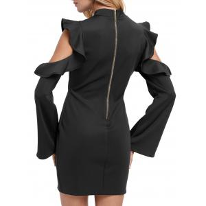 Ruffles Cut Out Robe en gomme -