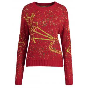 Christmas Elk Bell Plus Size Sweater -