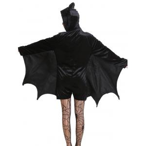 Halloween Batwing Romper with Cat Ear Hat -