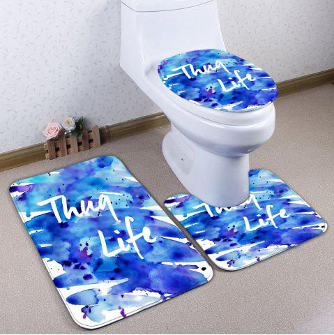 Buy Splash Ink Painting Thug Life 3Pcs Flannel Bath Rugs Set