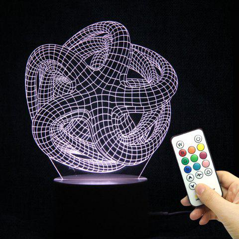 Fashion 3D Geometric Remote Control Color Changing Night Light