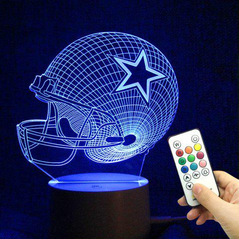 Shops Remote Control Color Change 3D Visual Rugby LED Night Light