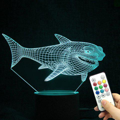 Online Colorful 3D Visual LED Shark Touch Night Light With Remote Control