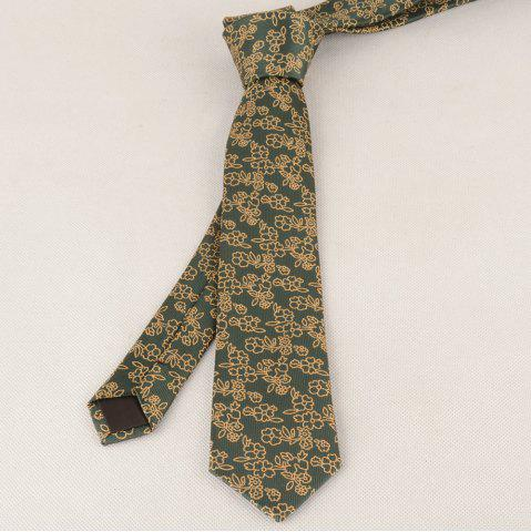 Latest Vintage 6CM Width Jacquard Pattern Necktie BLACKISH GREEN