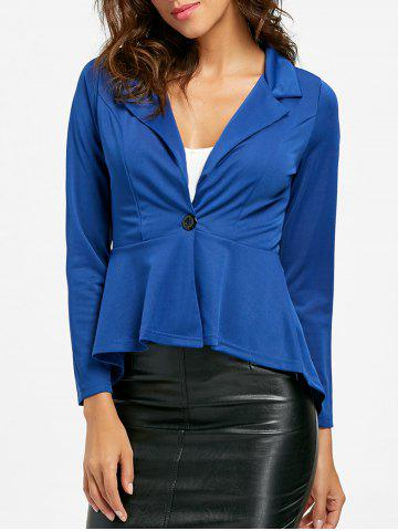 Online One Button Flounce High Low Blazer