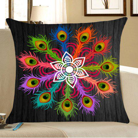 Outfits Peacock Feathers Pattern Throw Pillow Case