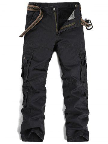 New Straight Leg Pleat Pockets Cargo Pants
