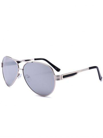 New Outdoor Metal Frame Crossbar Pilot Sunglasses REFLECTIVE WHITE COLOR