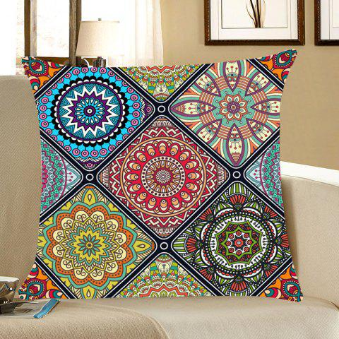 Chic Bohemian Flowers Pattern Throw Pillow Case
