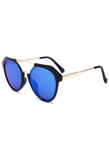 Chic Vintage Metal Frame Crossbar Sunglasses