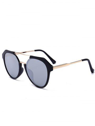 Outfit Vintage Metal Frame Crossbar Sunglasses