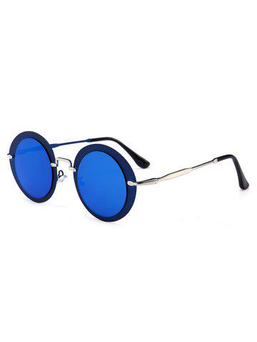 Affordable Outdoor Metal Frame Full Rim Round Sunglasses - SEA BLUE  Mobile