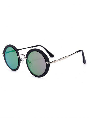 Outfits Outdoor Metal Frame Full Rim Round Sunglasses