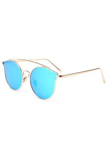 Sale Outdoor Full Frame Butterfly Sunglasses BLUE