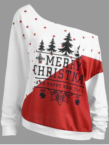 Online Christmas Tree Plus Size Two Tone Sweatshirt
